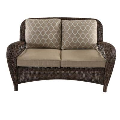 Beacon Park Toffee Replacement Outdoor Loveseat Cushions