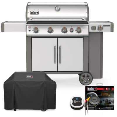 Genesis II S-435 Liquid Propane Gas Grill Combo with Cover and iGrill 3