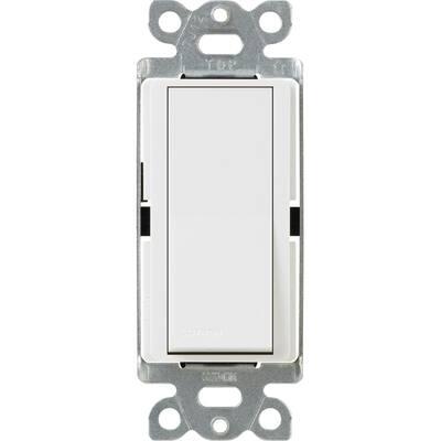 Claro 15 Amp Single-Pole Paddle Switch - White