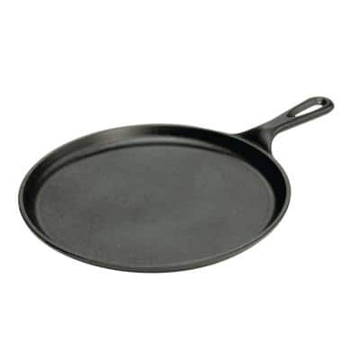 10.5 in. Cast Iron Griddle in Black