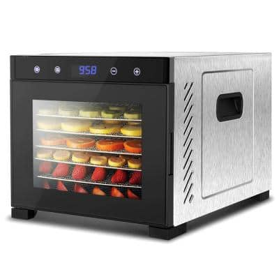 Premium 6-Tray Black Food Dehydrator Machine with Digital Timer and Temperature Control