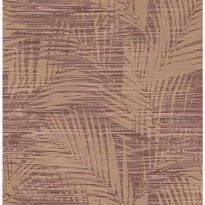 Motmot Burgundy Palm Burgundy Wallpaper Sample