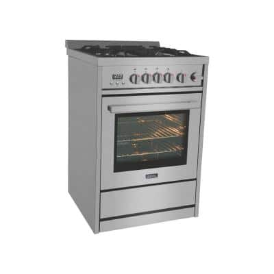 24 in. 2.7 cu. ft. Gas Range in Stainless Steel with Oven