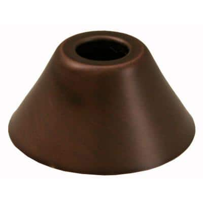 2-3/8 in. O.D. Bell Pattern Escutcheon for 1/2 in. Copper Tubing in Old World Bronze