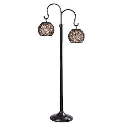 Castillo 63 in. Bronze Outdoor Floor Lamp