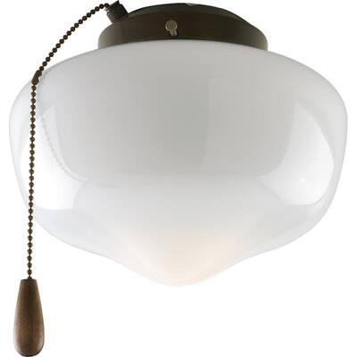 Fan Light Kits Collection 1-Light Antique Bronze Ceiling Fan Light Kit