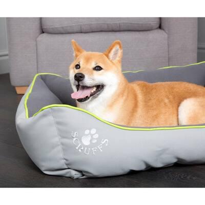 Eco Urban Medium Grey Polyester Dog Box Bed
