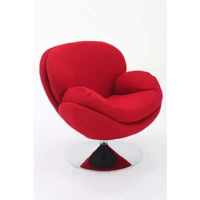 Comfort Chair Scoop Red Fabric Leisure Chair