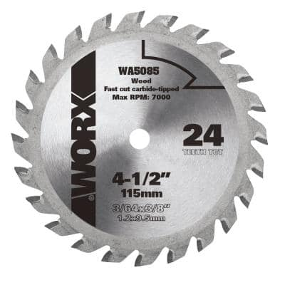 4-1/2 in. 24T Compact Circular Saw Blade