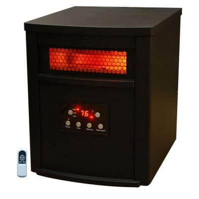 Life Zone Series 1500-Watt 6-Element Quartz Infrared Heater with Metal Cabinet and Remote Control