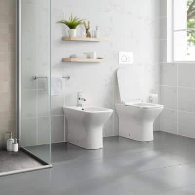Concorde Elongated Dual Flush Back To Wall Toilet Bowl Only in White