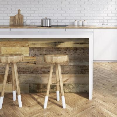 Barnwood Collection 3/8 in. x 6 in. x 10 in. Urban Cowboy Engineered Wood Interior Accent Wall Panel Sample