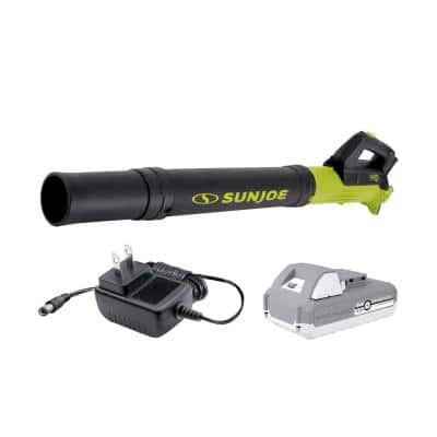 100 MPH 280 CFM 24-Volt Turbine Cordless Jet Blower Kit with 2.0 Ah Battery + Charger