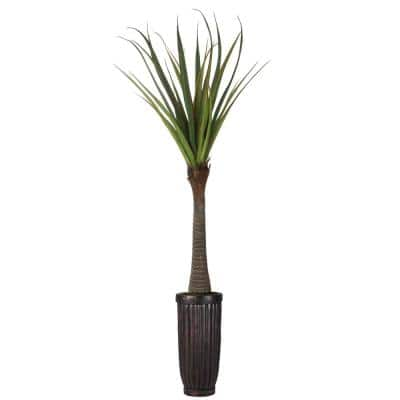 93 in. Real Touch Agave in Fiberstone Planter