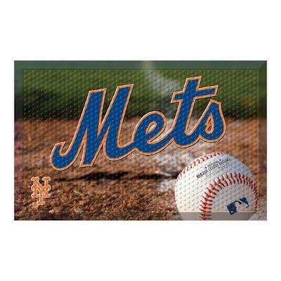MLB - New York Mets 19 in. x 30 in. Indoor/Outdoor Scraper Mat Door Mat