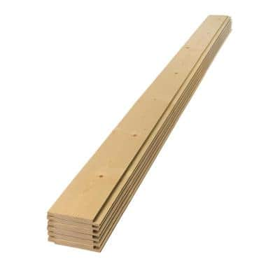 1 in. x 8 in. x 8 ft. Unfinished Pine Tongue and Groove Shiplap Siding Board (6-Pack)