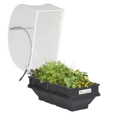 Raised Garden Bed Kit - Small 39.4 in. x 19.7 in. (1 m x 0.5m) Container with Protective Cover, Self Watering