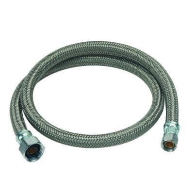 3/8 in. Compression x 1/2 in. FIP x 36 in. Braided Polymer Faucet Connector