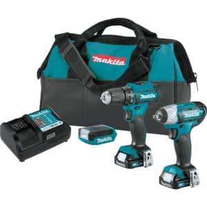 12-Volt Max CXT Lithium-ion Cordless 3-Piece Combo Kit (Driver-Drill/ Impact Wrench/ Light) 1.5 Ah