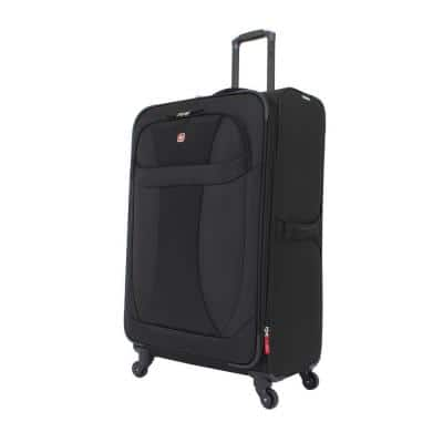 29 in. Lightweight Spinner Suitcase in Black