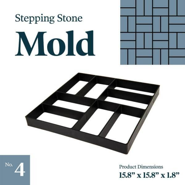 "Paver brick stepping stone mold concrete plaster reusable mould 16/"" x 16/"" x 1.5/"""