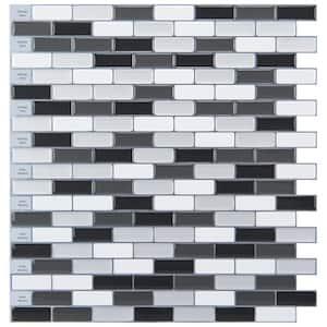 12 in. x 12 in. Peel and Stick Vinyl Backsplash Tile in Grey