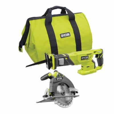 ONE+ 18V Cordless Reciprocating Saw and 6-1/2 in. Circular Saw Combo Kit (Tools Only)