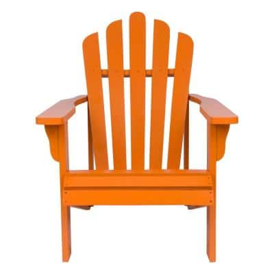 Westport Tangerine Cedar Wood Adirondack Chair