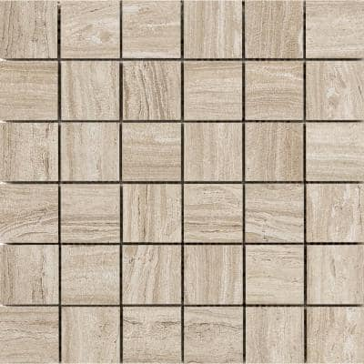 Terrane Taupe 11.73 in. x 11.73 in. x 10 mm Porcelain Mesh-Mounted Mosaic Tile (0.97 sq. ft.)
