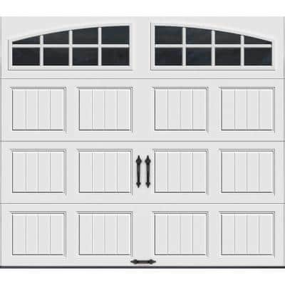 Gallery Collection 8 ft. x 7 ft. 6.5 R-Value Insulated White Garage Door with Arch Window