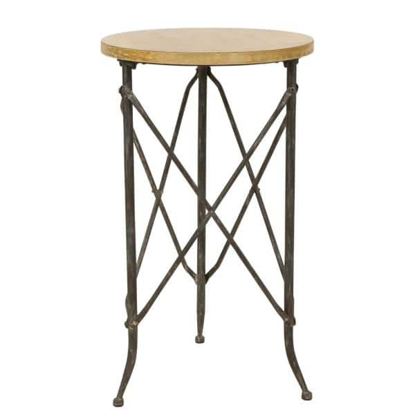 Aspire Home Accents Atwell Distressed, Round Accent Tables