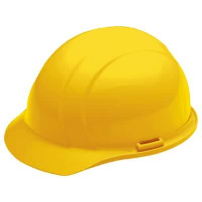 4 Point Nylon Suspension Slide-Lock Cap Hard Hat in Yellow
