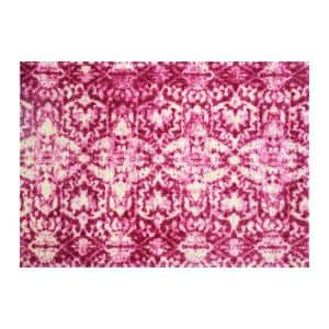 In-Home Washable/Non-Slip Muted Pink 2 ft. 3 in. x 1 ft. 5 in. Area Rug & Mat