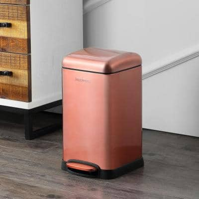 Betty Retro Mini 3.2 Gal. Rose Gold Step-Open Trash Can