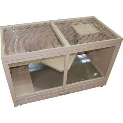ECOFLEX Park Avenue Indoor Rabbit Hutch-Maple