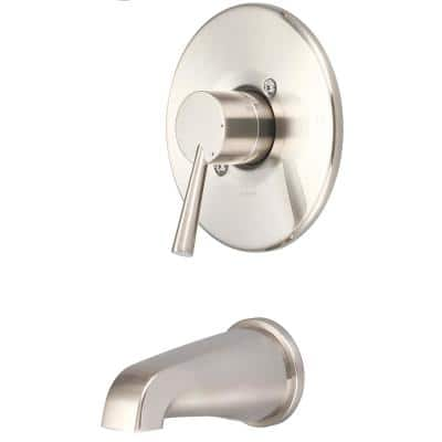 i2 1-Handle Wall Mount Tub Trim Kit in Brushed Nickel (Valve not Included)