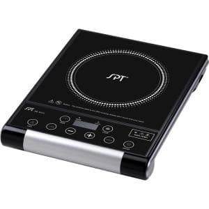 Single Burner 15 in. Black Radiant Hot Plate with Temperature Control