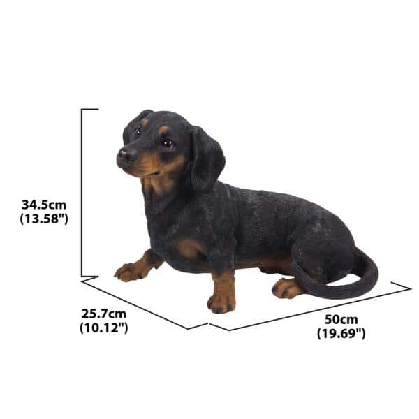 Hi Line Gift Dachshund Laying Down Statue 87799 B The Home Depot