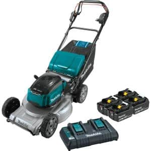 21 in. 18-Volt X2 (36-Volt) LXT Lithium-Ion Brushless Cordless Walk Behind Self-Propelled Lawn Mower Kit (5.0Ah)