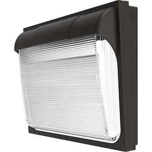 Contractor Select 400-Watt Equivalent Integrated LED Dark Bronze Wall Pack Light, Adjustable Lumen Output 4000K