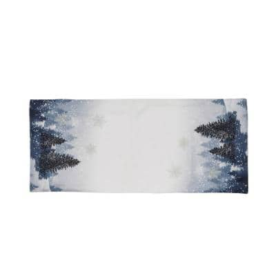 0.1 in. H x 16 in. W x 36 in. D Winter Wonderland Double Layer Christmas Table Runner
