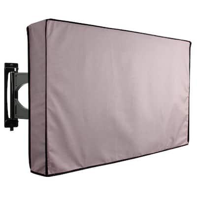 36 in. - 38 in. Grey Outdoor TV Universal Weatherproof Protector Cover