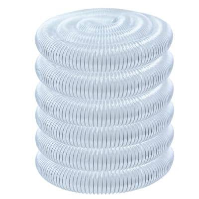4 in. x 50 ft. PVC Flexible Dust Collection Hose, Clear Color