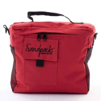 Sandpacks Red Easy To Carry Beach Tote - Clips To Beach Chair