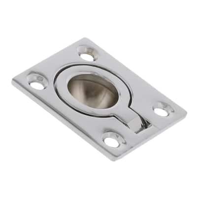 1-1/2 in. x 1-3/4 in. Chrome Flush Ring Pull (5-Pack)