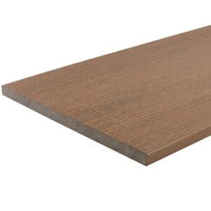 UltraShield 0.6 in. x 12 in. x 12 ft. Peruvian Teak Fascia Composite Decking Board