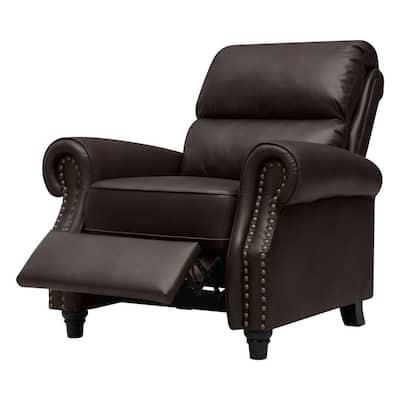 Coffee Brown Renu Leather Push Back Recliner Chair