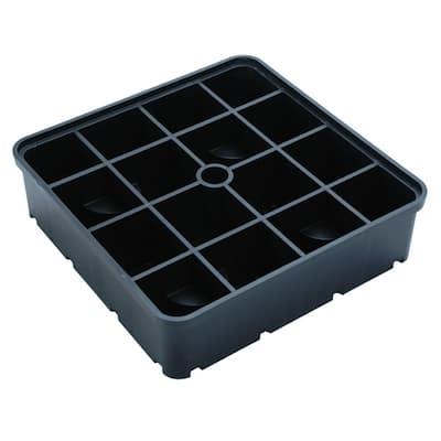 UDECX 3 in. Riser Block Black (4-Pack)