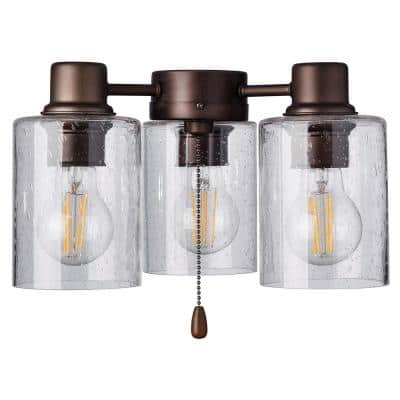 Rye 3-Light Oil Rubbed Bronze Ceiling Fan Shades LED Light Fixture