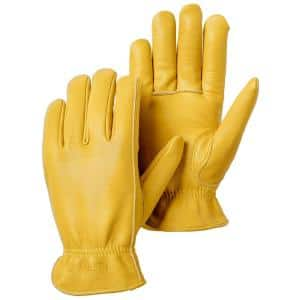 Goatskin Drivers Size 9 Tan Leather Gloves